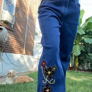 Christopher and Banks embroidered jeans 💘